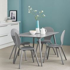 Simple yet oozing contemporary design - our Alma Dining Table and chair set.