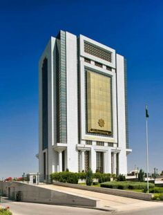 Turkmenistan's Astonishing Attempt To Build A City Of The Future The Central Bank of Turkmenistan, opened in 2002