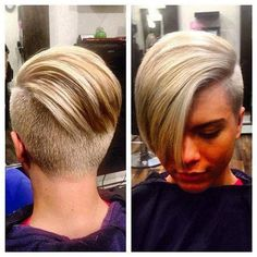 14 More Really Cool Short Hairstyles With Long Bangs: Shaved and Buzzed Cool Short Hairstyles, Pixie Hairstyles, Pixie Haircuts, Short Hair Cuts, Short Hair Styles, Pixie Cuts, Short Hair Girls, Coiffure Hair, Pelo Pixie