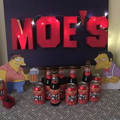simpsons party moe's tabern