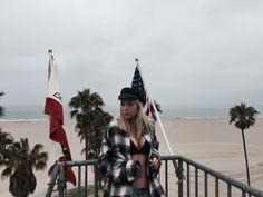 R13 check shirt in Venice LA 💗