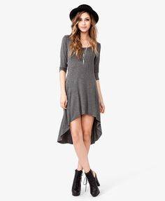 Heathered High-Low Dress | FOREVER21