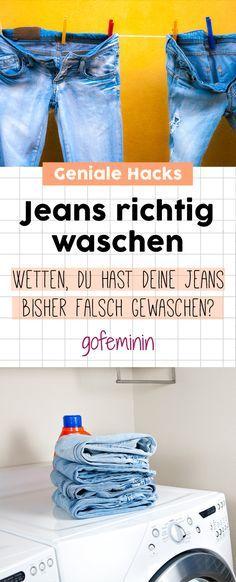Jeans richtig waschen: DIESE 8 Hacks musst du kennen!