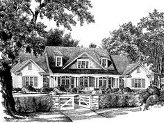 Country House Plan with 4302 Square Feet and 4 Bedrooms(s) from Dream Home Source | House Plan Code DHSW55384
