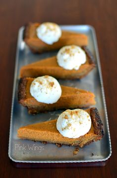 Pink Wings: Marscapone Gingersnap Pumpkin Pie