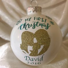 My First Christmas Personalized Christmas Ornament; Boy Or Girl by TmangsTreasures on Etsy