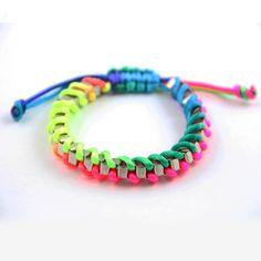 neon bracelet / diy