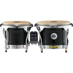 Meinl Free Ride Series FWB400 Wood Bongos 8.5 x 7 in. Ebony Black Fade