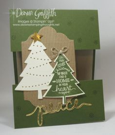 Peaceful Pines swap card GQ Dawn Griffith Stampin'Up!