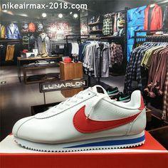 outlet store d9302 e5de1 Retro Nike Classic Cortez Special Men Running Shoes Leather All White