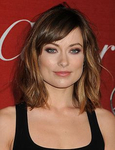 Olivia Wilde: shoulder-length cut with piecey, roughed up texture