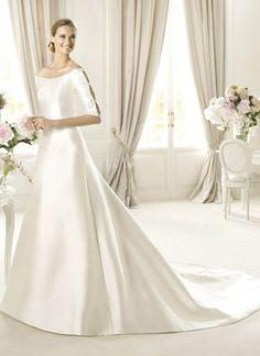 straight line lace back long sleeve wedding dress - Google Search