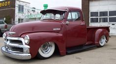 1954 Chevy Truck, ridding low and chopped. Most cool!