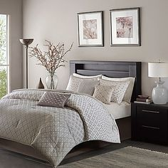 Madison Park Biloxi 7-Piece Queen Comforter Set in Silver