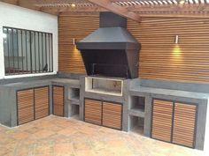 Decorating Tips for Outdoor Kitchen Ideas & Renovation . Find ideas for Kitchen with many of inspiring photos from design professionals. Outdoor Bbq Kitchen, Outdoor Barbeque, Outdoor Cooking Area, Kitchen Grill, Patio Kitchen, Outdoor Kitchen Design, Parrilla Exterior, Barbecue Garden, Built In Braai