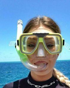 Scuba Girl, Snorkelling, Portrait, Scuba Diving, Women, Snorkeling, Diving, Headshot Photography, Portrait Paintings