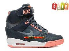 Nike Air Revolution Sky Hi GS Chaussures Montante Nike Pas Cher Pour Femme Noir/Orange 599410-400