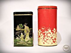Set of 2 Large Tin Cannisters  Made In Holland by VintageMedreana, $23.00