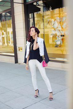 Sweet, Street, Sophistication - Lionette Hudson necklace, rag & bone leather/denim jacket