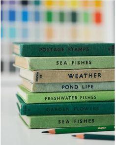 book stacks as decor via James Gardner Photography