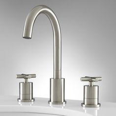 Extra Widespread Bathroom Faucet - Brushed nickel $149.95