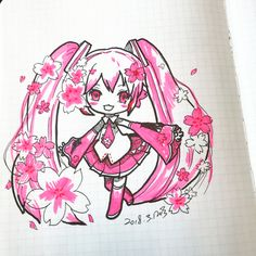 #drawing #pink #chibi