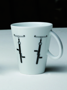 """Italia in bici"": mug in porcellana"