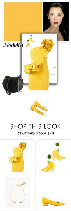 """""""Style up in One Shoulder Dress"""" by modalist ❤ liked on Polyvore featuring Dsquared2, Mercedes Salazar, Brooks Brothers, Rayne and Jimmy Choo"""