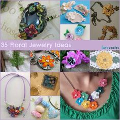 35 Floral Jewelry Ideas--Just updated with new jewelry tutorials!  Great collection of floral jewelry for all year long!