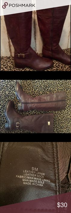 Tall brown leather boots Excellent condition very soft brown leather ANTONIO MELANI Shoes Winter & Rain Boots