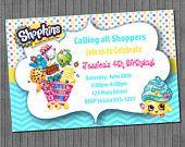 FLASH SALE Shopkins Birthday Invitations