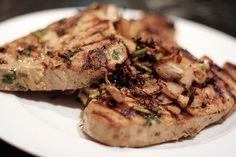 Grilled Tuna Steak by Mellyssa, via Flickr,  Click For Recipe http://foodfunhappiness.blogspot.com/2013/04/yummy-grilled-tuna-steak-recipe.html