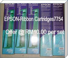 Epson 7754 10 units RM100.00 + courier 15.00 , 20 units RM200.00 +courier 30.00 , 36 unit RM360.00 + courier 40.00 Please do not hesitate to contact to us, WORLDWIDE RESELLER WANTED. OR VOLUME BUYER ARE WELCOME TO CONTACT US. WAN YANG DISTRIBUTION (M) SDN.BHD. Tel : 604-6577655 Fax :604-6553655 For product inquiries, Please email … Stock Clearance, Epson, Water Bottle, Ribbon, Tape, Band, Water Bottles, Ribbon Hair Bows, Bows