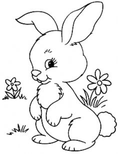 Bunny Coloring Pages, Easter Colouring, Disney Coloring Pages, Printable Coloring Pages, Coloring Pages For Kids, Coloring Books, Embroidery Patterns, Hand Embroidery, Owl Patterns