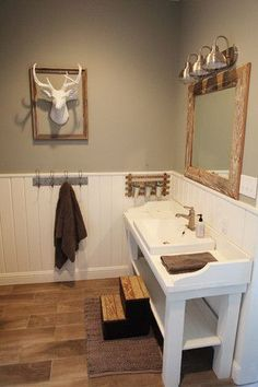 Magnolia Farmhouse- amazing DIY renovation. Love it all but the fake deer.