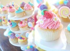 Cupcakes {pastels}