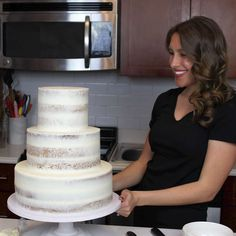 Considering making your own wedding cake? I share all my advice on this, along … Considering making your own wedding cake? I share all my advice on this, along with why I chose to make my own wedding cake Make Your Own Wedding Cakes, Diy Wedding Cake, Wedding Cake Designs, Wedding Cupcakes, Making A Wedding Cake, Naked Wedding Cake Recipe, Wedding Cake Recipes, Wedding Cake Flavors, Wedding Ideas