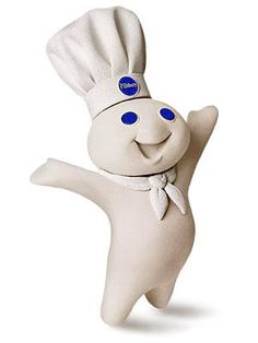 I WANT ONE!!! Pillsbury Doughboy made his debut in 1965. Though known as the Pillsbury Doughboy today, he was previously called Poppin' Fresh. His catchy giggle made him an instant star.