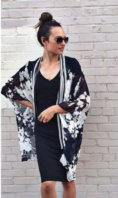 Love this kimono color and shape, great for work and casual