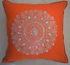 My Island Home - Paisley Princess Cushion Covers - mandarin sun - one only