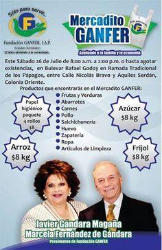 Sábado 26 de Julio: Mercadito Ganfer 8am en Blvd Rafael Godoy