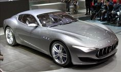 Maserati Alfieri concept Maserati debuts its Alfieri concept at the 2014 Geneva Motor Show. The Alfieri concept, based on the GranTurismo, has a minimalist 2+2 layout and is powered by a Ferrari-sourced 4.7-liter V8 making 454 hp.