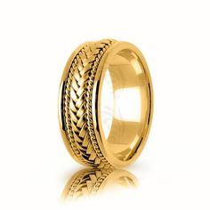 Handwoven Two Tone White-yellow-white Gold Polish Braided Basket Weave Wedding Ring Basket Weaving, Hand Weaving, Handmade Wedding Rings, Gold Polish, Wedding Bands, Weave, Rings For Men, White Gold, Rose Gold