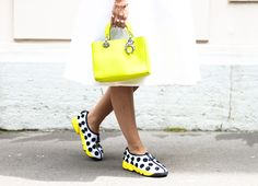 Threads Styling - Street Style - Dior Fusion Trainers & Dior Lady Bag - Dior Couture 2014, Paris