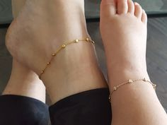 Mommy and me gold vermeil dainty chain anklets, mommy and me anklets, matching anklets, dainty baby anklet, mommy and me outfits Source by kpearlb and me outfits Baby Jewelry, Kids Jewelry, Cute Jewelry, Gold Jewelry, Statement Jewelry, Anklet Jewelry, Anklets, Baby Schmuck, Rose Gold Anklet