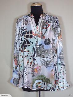 Seven Sisters | Moulin Rouge/Parisian Print Blouse (16-18*) | Trade Me Enlarge Photos, Colour List, Close Up Photos, Printed Blouse, Parisian, Size 16, 18th, Sisters, Shirt Dress
