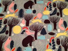 Marimekko Pieni Huhuli cotton fabric, half yard, from Finland #Marimekko