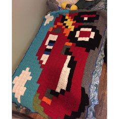 Lightening McQueen - Cars pixel crochet blanket by meag_23