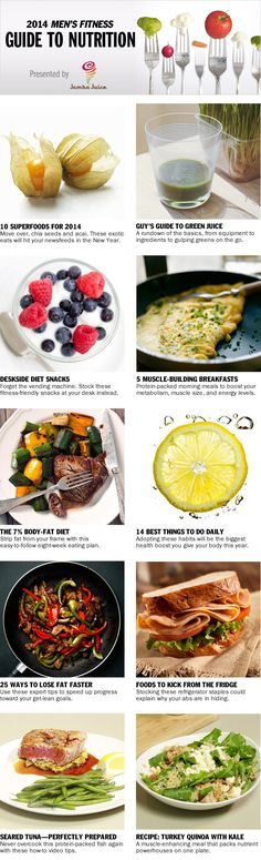 The 2014 Men's #Fitness Guide to Nutrition - Men's Fitness.  Visit our Facebook Page at https://www.facebook.com/ChooseWellness Men's Health Fitness, Health Diet, Health And Nutrition, Health And Wellness, Fitness Diet, Mens Fitness, Fitness Motivation, Nutrition Guide, Proper Nutrition