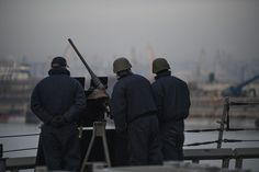 170203-N-JI086-030 - CONSTANTA, Romania (Feb. 3, 2017) Sailors aboard the guided-missile destroyer USS Porter (DDG 78) stand watch as the ship pulls into Constanta, Romania, Feb. 3, 2017. Porter, forward-deployed to Rota, Spain, is conducting naval operations in the U.S. 6th Fleet area of operations in support of U.S. national security interests in Europe. (U.S. Navy photo by Mass Communication Specialist 3rd Class Ford Williams/Released)